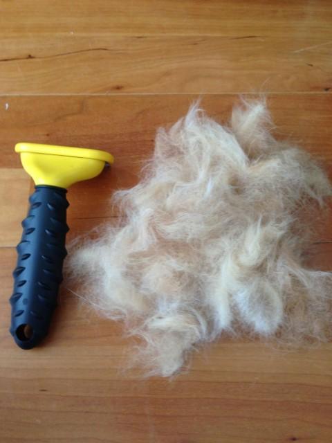 ファーミネーター1回でとれた猫毛
