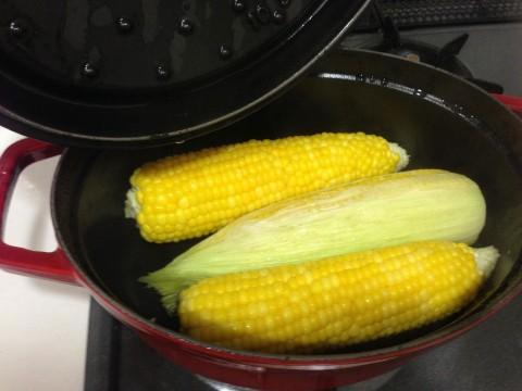 10分後。全体的に均一にやや透明感のある鮮やかな黄色味が帯びれば完成